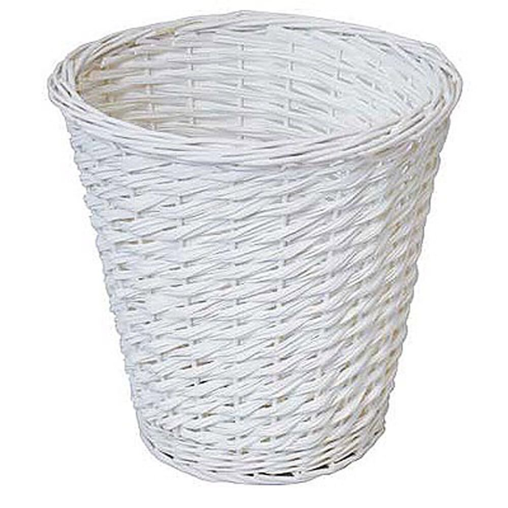 Best Bin Waste Paper Basket R*Bb*Sh White Bedroom Room Kitchen With Pictures