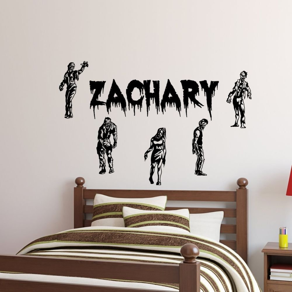 Best Personalized Name 5 Zombies Walking Dead Vinyl Wall Decal With Pictures