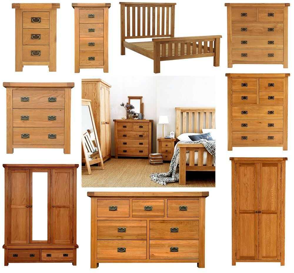 Best Chunky Solid Oak Bedroom Furniture Set Wardrobe Drawers With Pictures
