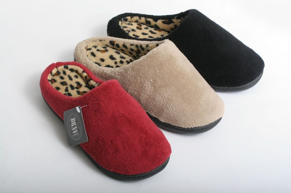 Best New Women Cozy Leopard Print Clog House Bedroom Slippers With Pictures