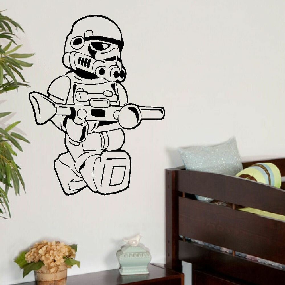 Best Large Star Wars Lego Men Storm Trooper Bedroom Wall Art With Pictures