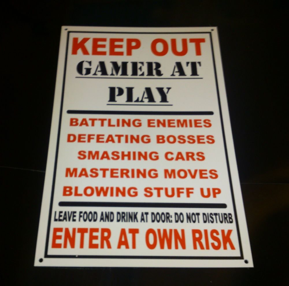 Best Funny Keep Out Gamer At Play Bedroom Door Plaque Xbox With Pictures