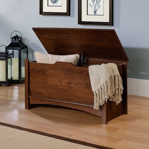 Best Wooden Storage Chest Trunk Oak Wood Bench Toy Box Furniture Organizer Bedroom Ebay With Pictures