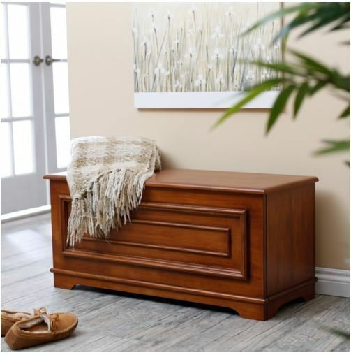 Best Hope Chest Bedroom Storage Trunk Wood Blanket Bench With Pictures