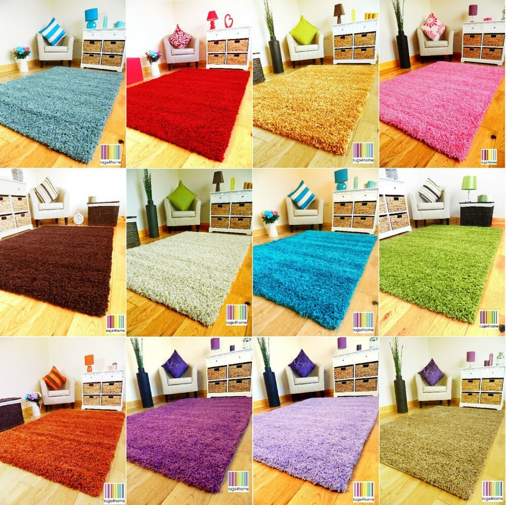 Best Small Med X Large Plain Livingroom Bedroom Fire Side Soft Shaggy Area Rug Mat Ebay With Pictures