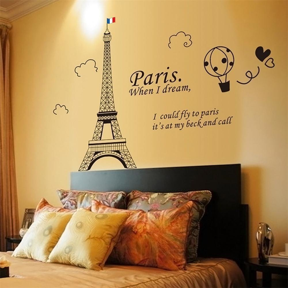 Best 71 Paris Eiffel Tower Bedroom Home Decor Removable Art With Pictures