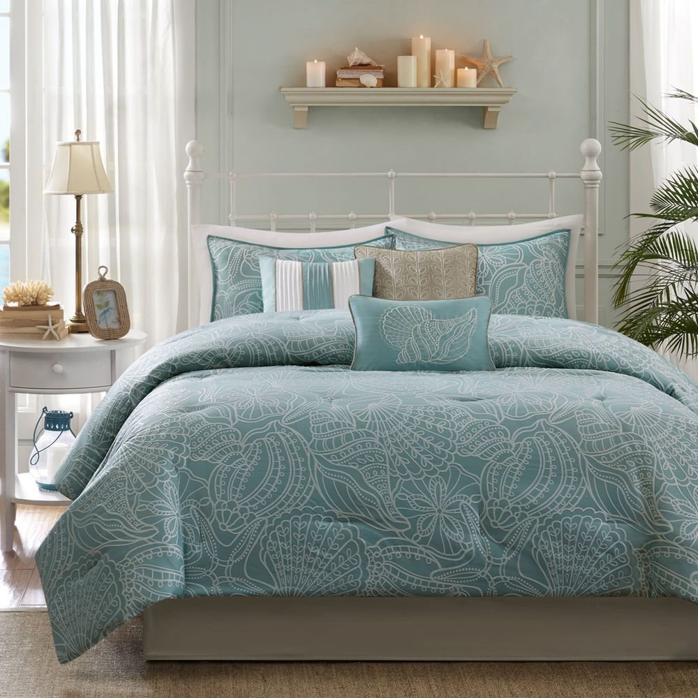 Best Beautiful Reversible Blue Grey Ocean Beach Coastal With Pictures