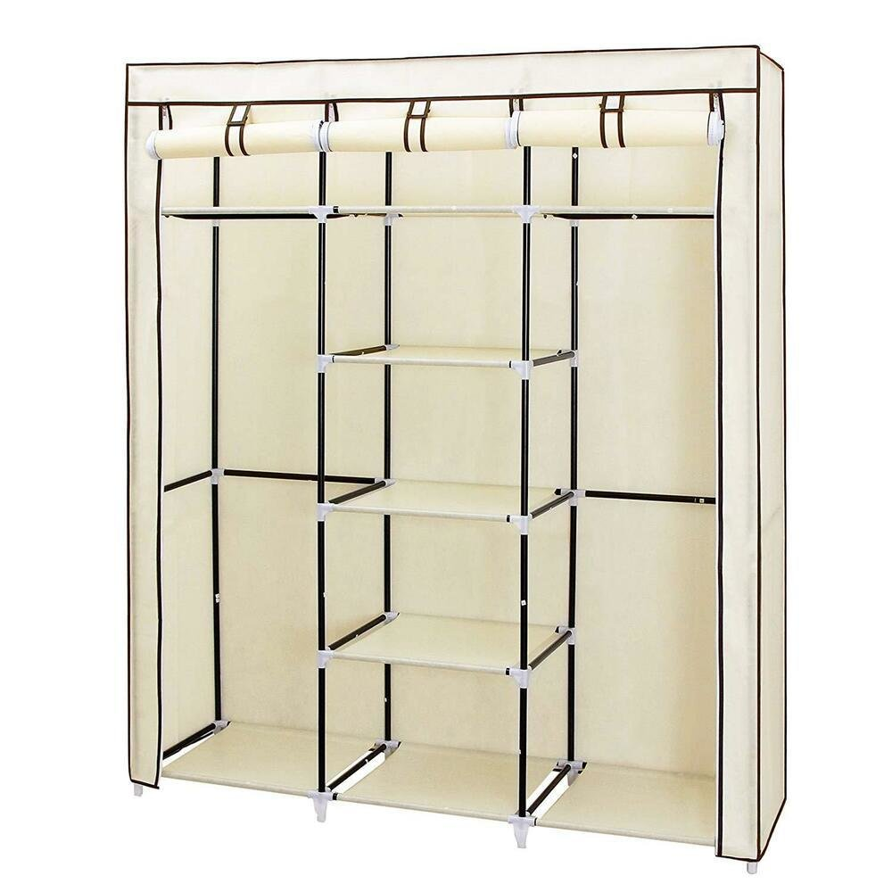 Best Portable Closet 59 Clothes Wardrobe Bedroom Organizer With Pictures