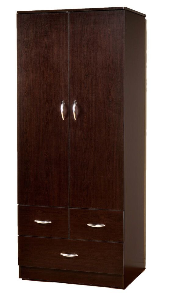 Best Wardrobe Bedroom Armoire With 2 Doors And 3 Drawers 7801 With Pictures
