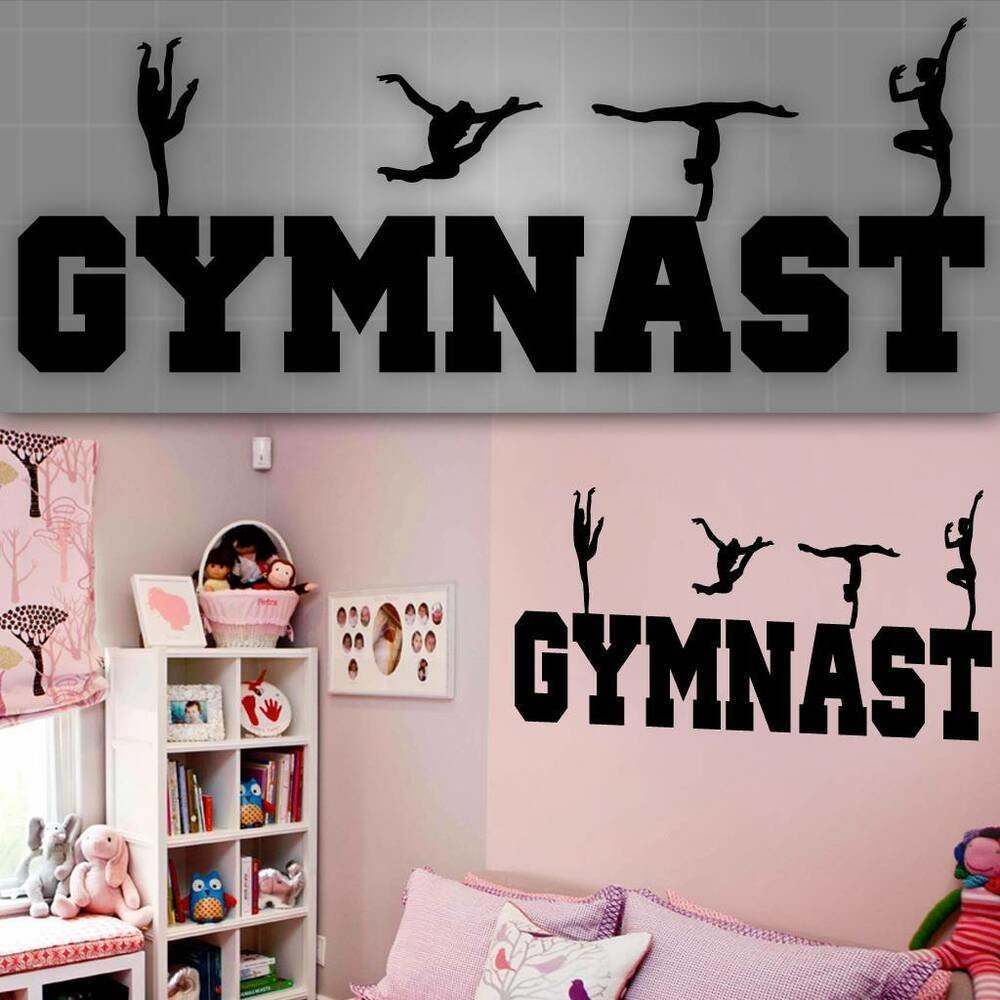 Best Gymnast Wall Decal Girls Gymnast Wall Sticker Girls Room With Pictures