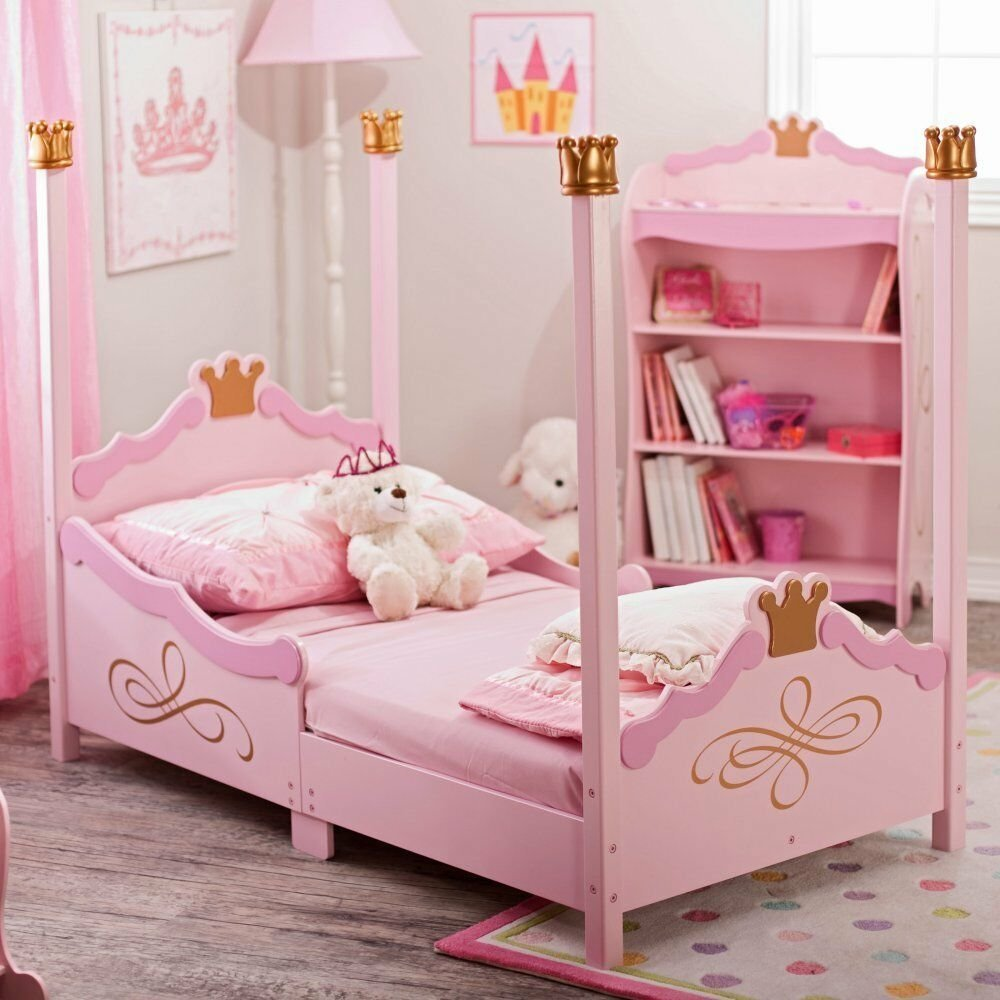 Best Kidkraft Princess Toddler Bed 76121 Pink Toddler Bed With Pictures