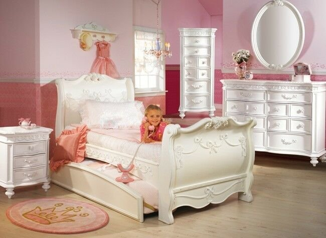 Best Disney Princess 5 Piece Full Sleigh Bed Bedroom Set Disney Princess Collection Ebay With Pictures