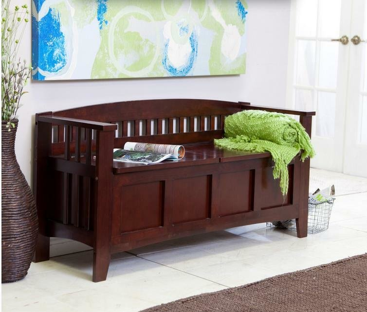 Best Storage Chest Mudroom Bench Merlot Hall Entryway Seat Bedroom End Of Bed Ottoman Ebay With Pictures