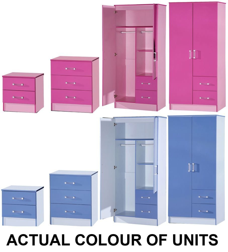 Best New Marina Boys Or Girls Pink Blue Ultra Gloss Bedroom With Pictures