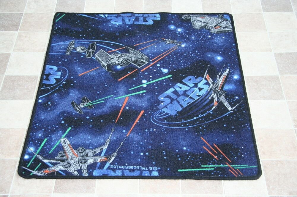 Best Quality Star Wars Rug Childrens Bedroom Spaceships Mat Rug 81Cm X 94Cm Num 1 Ebay With Pictures