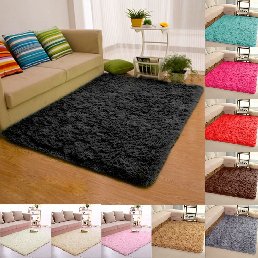Best Fluffy Rugs Anti Skid Shaggy Area Rug Dining Room Carpet With Pictures