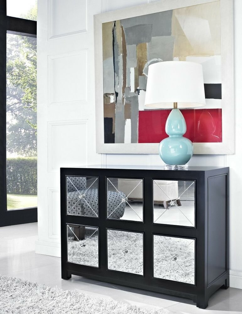 Best Hollywood Regency Mirrored Console Cabinet Dresser Table With Pictures