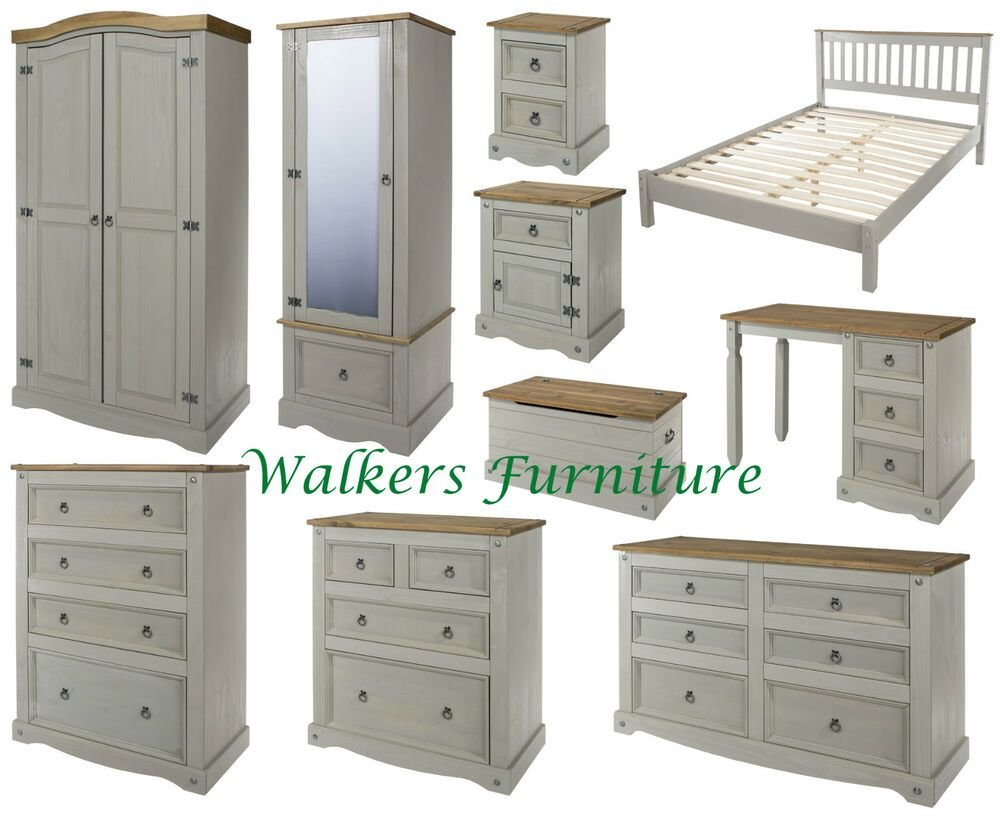 Best Premium Corona Grey Wash Bedroom Furniture Wardrobe Drawers Bedside Beds Ebay With Pictures