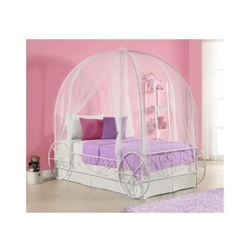 Best Twin Metal Cinderella Princess Pumpkin Carriage White Bed With Pictures