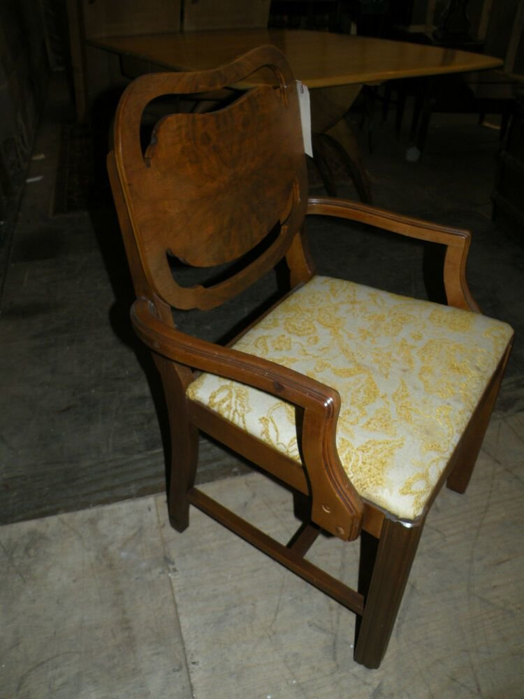 Best Antique Uphostered Art Deco Bedroom Vanity Chair Dining With Pictures