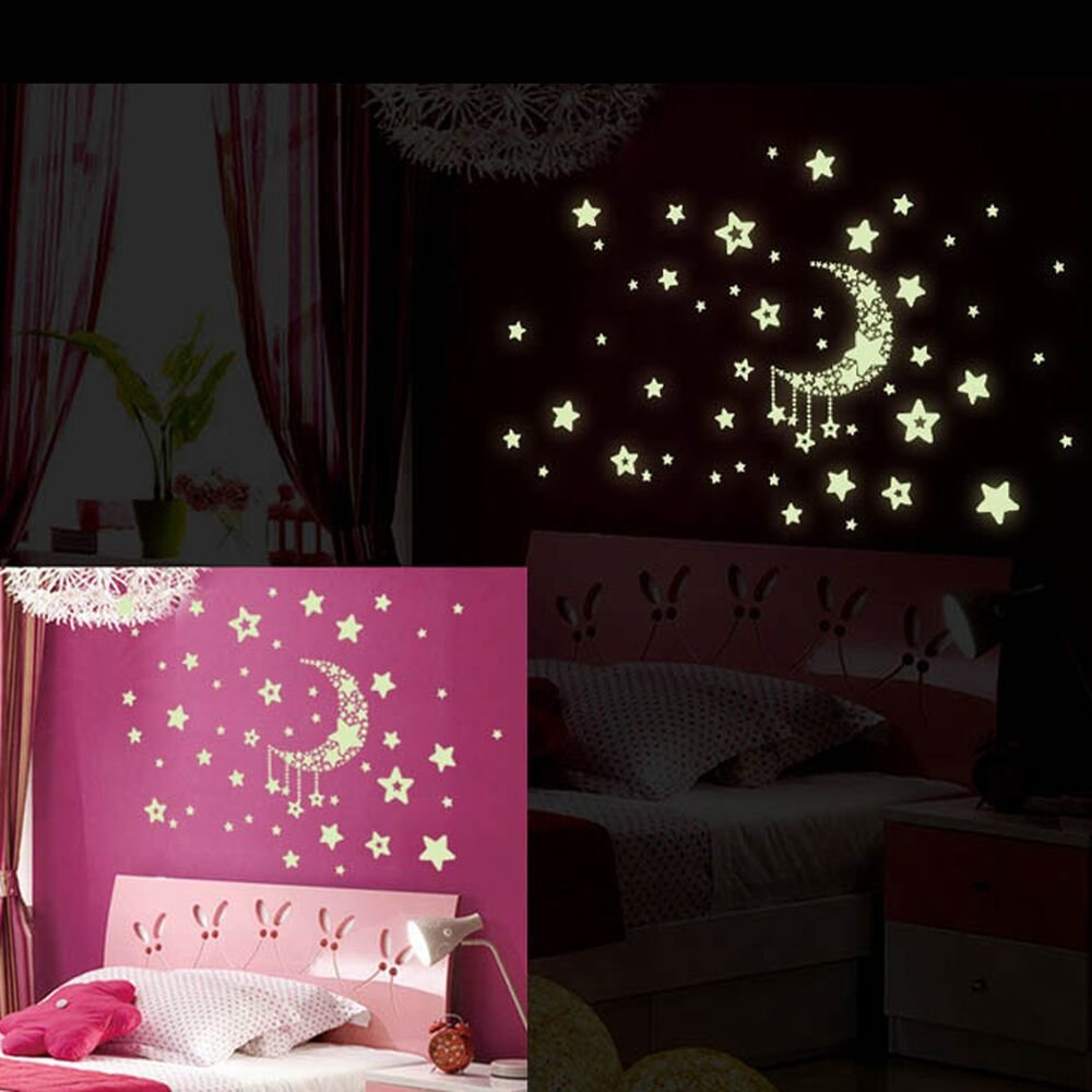 Best Removable Night Glow In The Dark Wall Sticker Decal Room With Pictures
