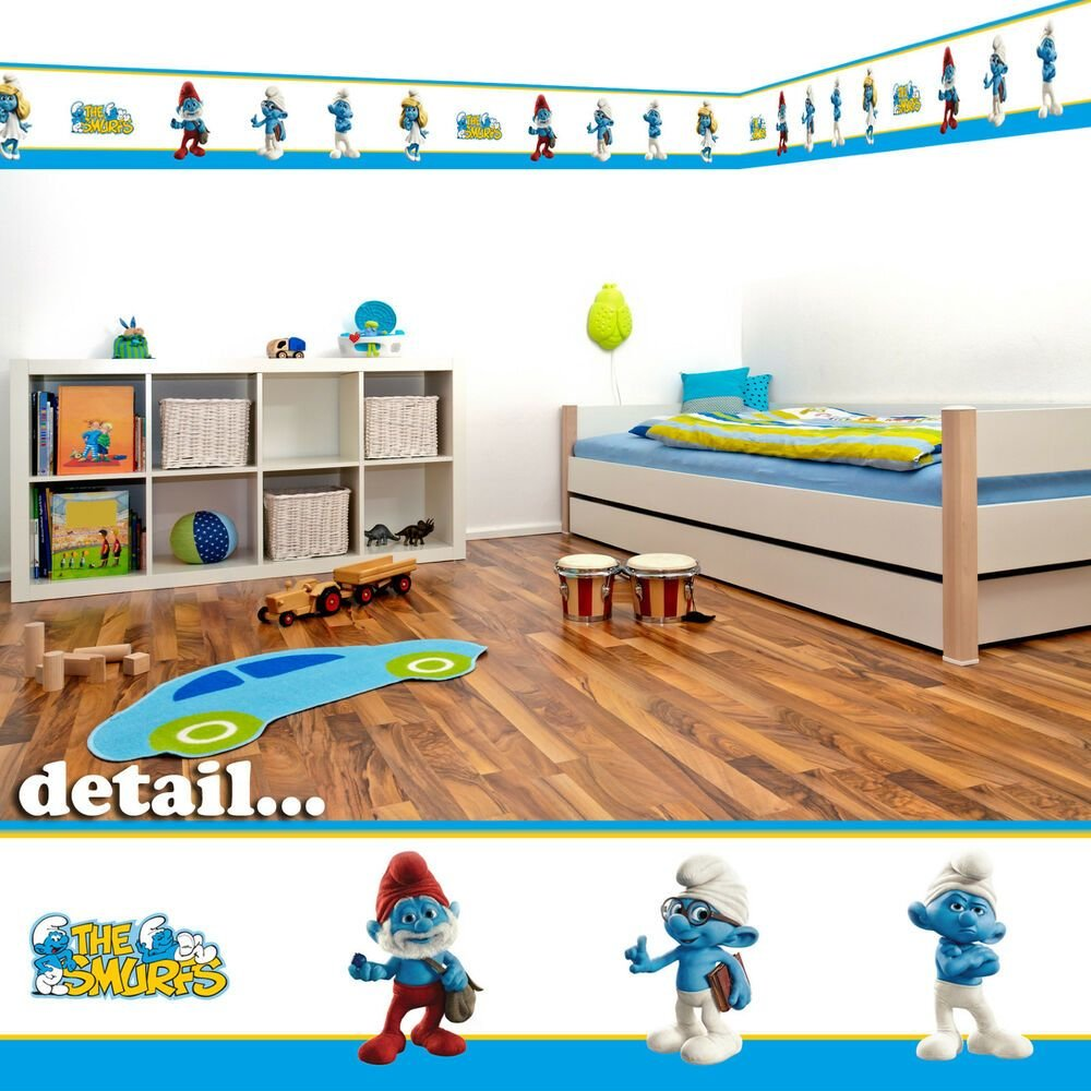 Best Smurfs Self Adhesive Decorative Wall Border 5M With Pictures