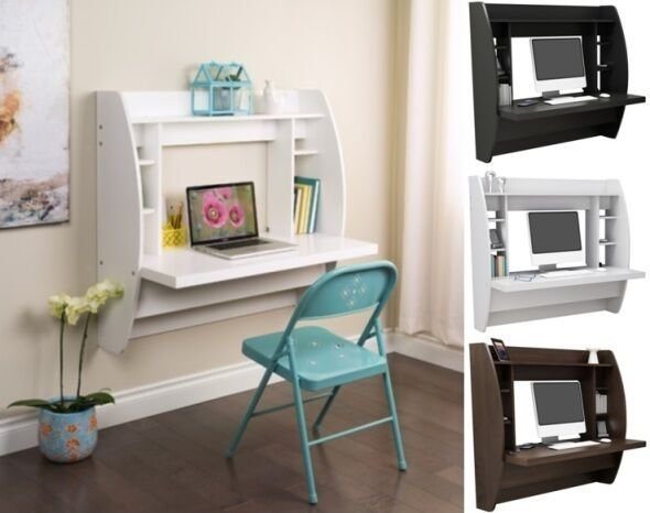 Best Wall Mounted Floating Computer Student Desk Kids Desks With Pictures