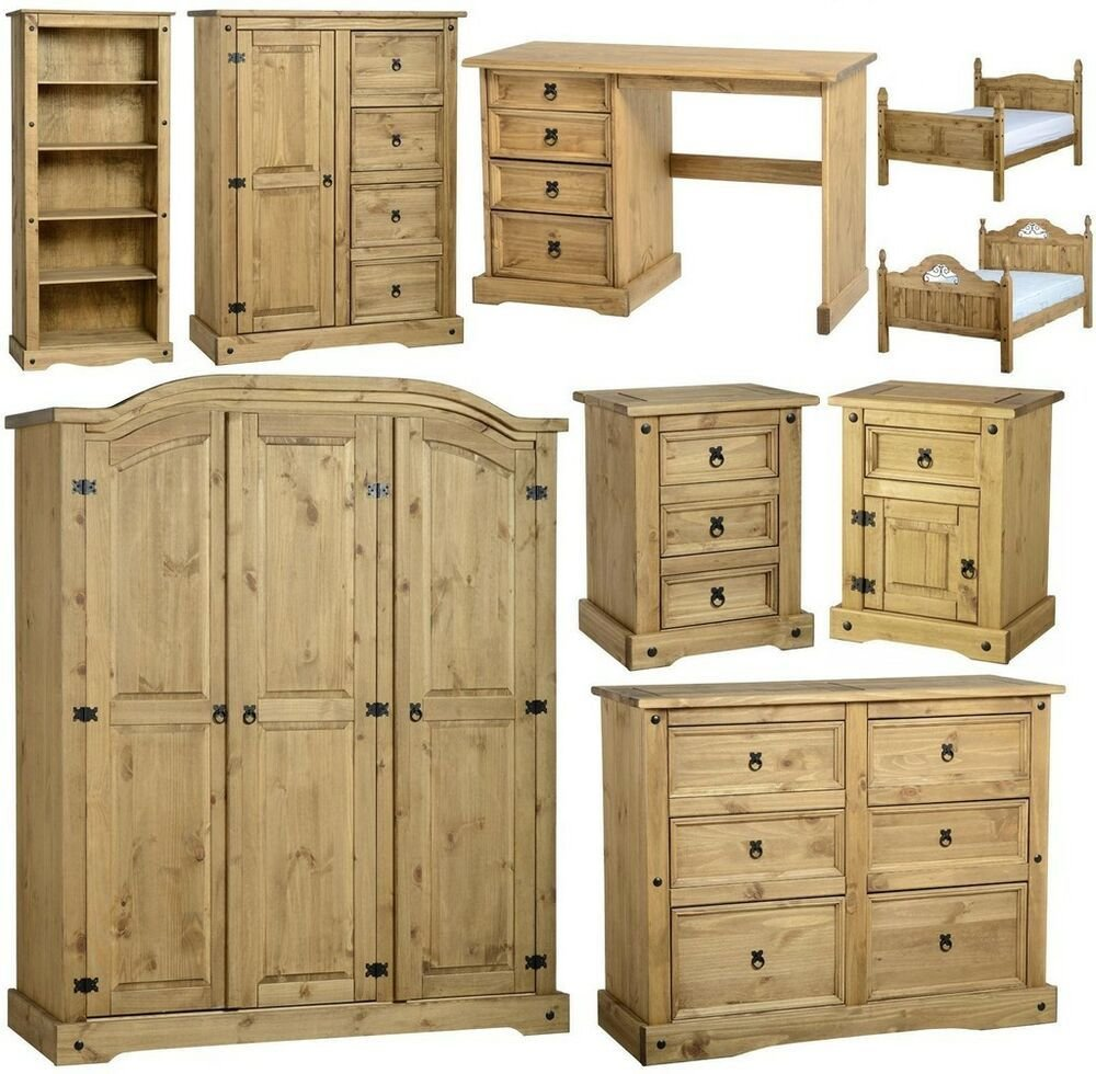 Best Corona Mexican Pine Bedroom Furniture Dressing Table Bed With Pictures