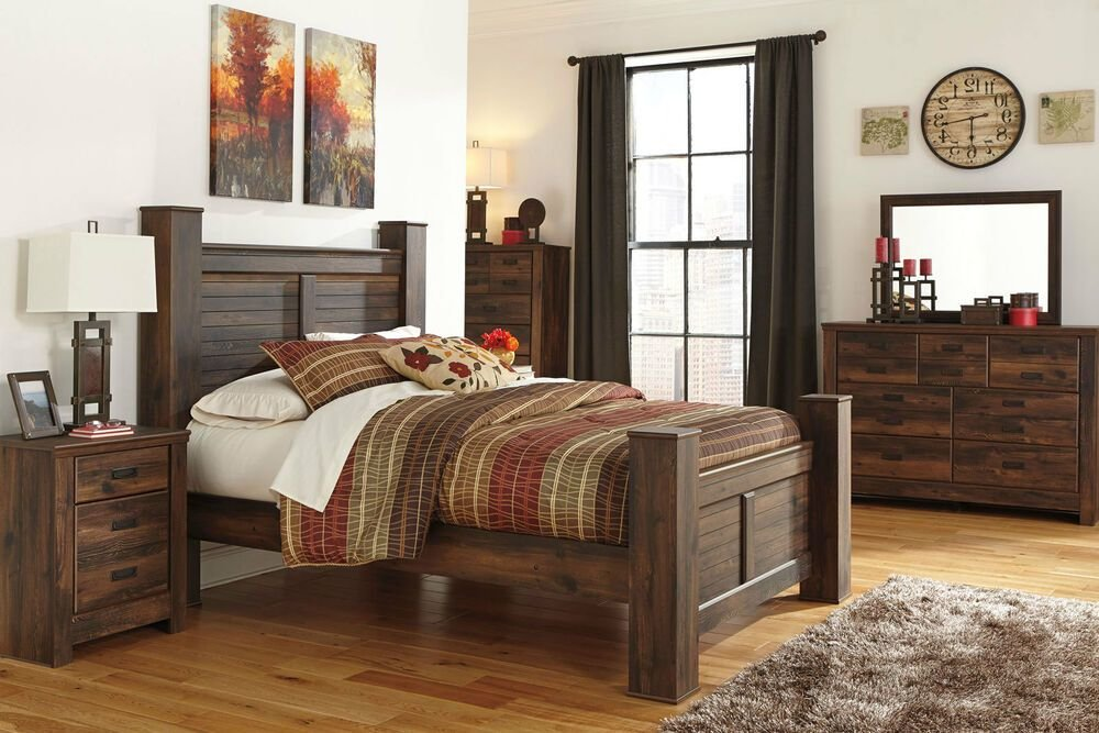 Best Ashley Furniture B246 Quinden Queen King Poster Storage Bed Frame Bedroom Set Ebay With Pictures