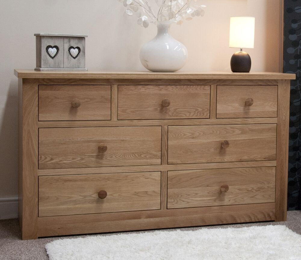 Best Vermont Solid Oak Bedroom Furniture Large Chest Of Drawers With Pictures