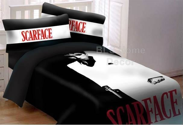 Best Scarface Tony Montana 3 Piece Queen Size Luxury With Pictures