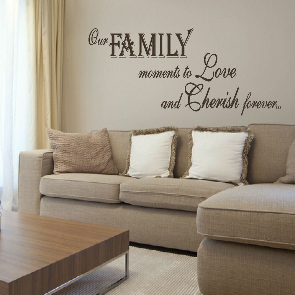 Best Large Bedroom Quote Family Love Giant Wall Art Sticker Transfer Stencil Decal Ebay With Pictures