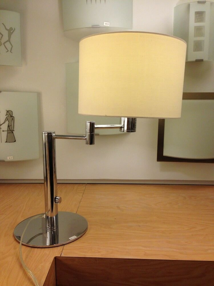 Best Bedroom Table Lamps Chrome White Ebay With Pictures