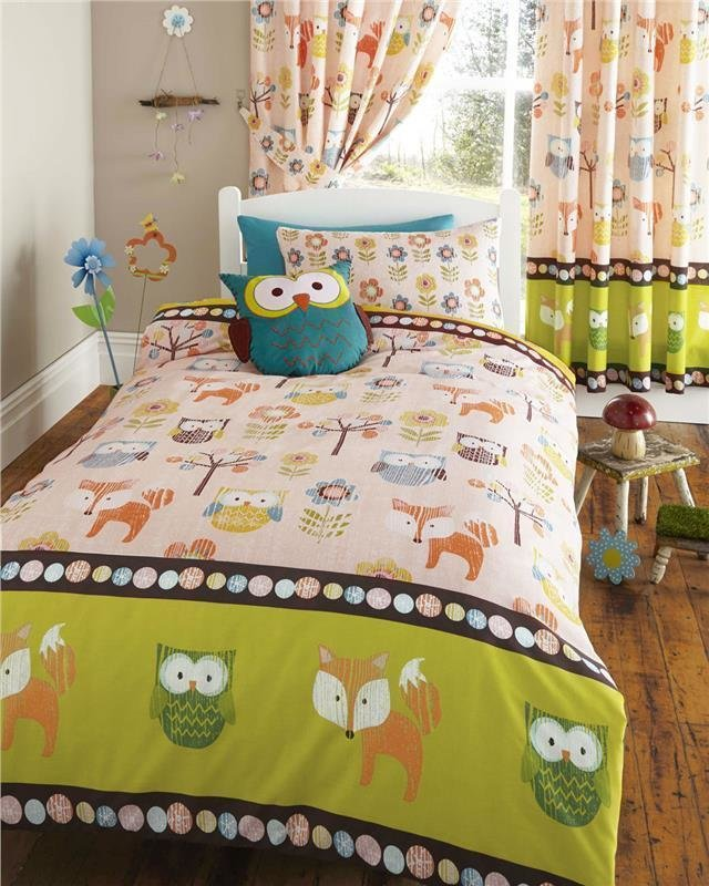 Best Woodland Animals Owls Bedding Set Duvet Cover Sets And With Pictures