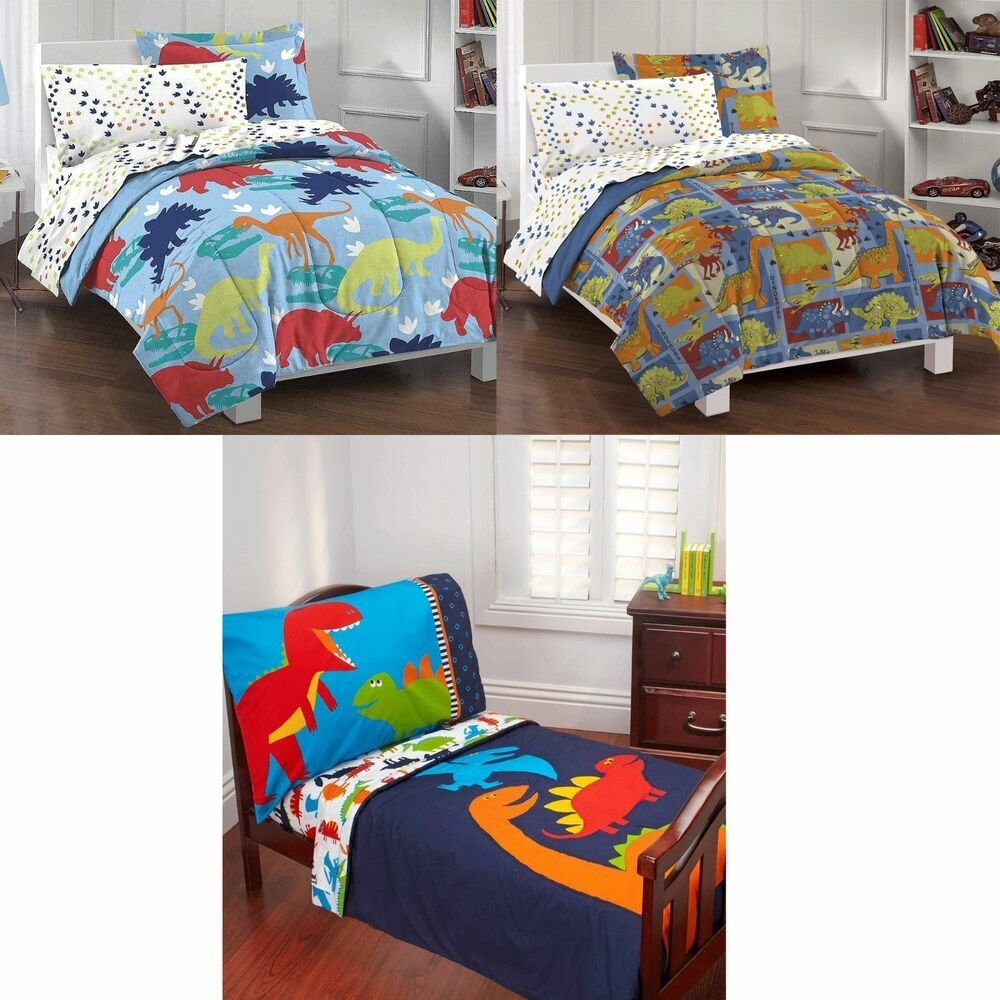 Best Dinosaurs Kids Bedroom Set Boys Bed In A Bag Comforter With Pictures