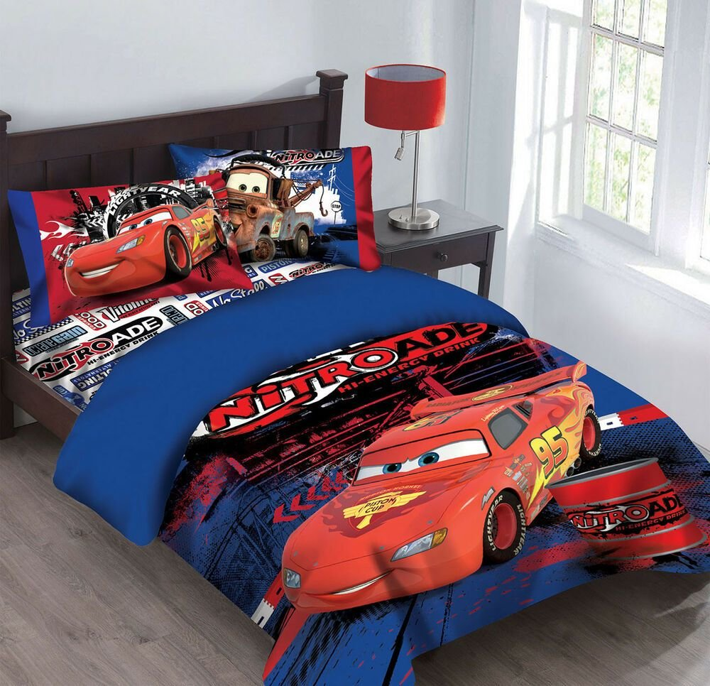 Best Disney Cars Nitroade Twin Bedding Comforter Set Ebay With Pictures