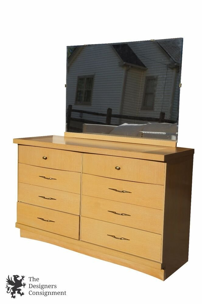 Best Vintage Bassett Furniture Chest Six Drawers Vanity Dresser With Pictures