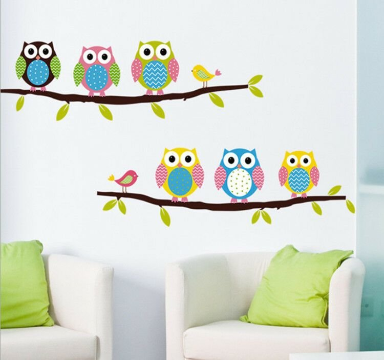 Best Removable Tree Owl Wall Decals Kids Bedroom Baby Nursery With Pictures