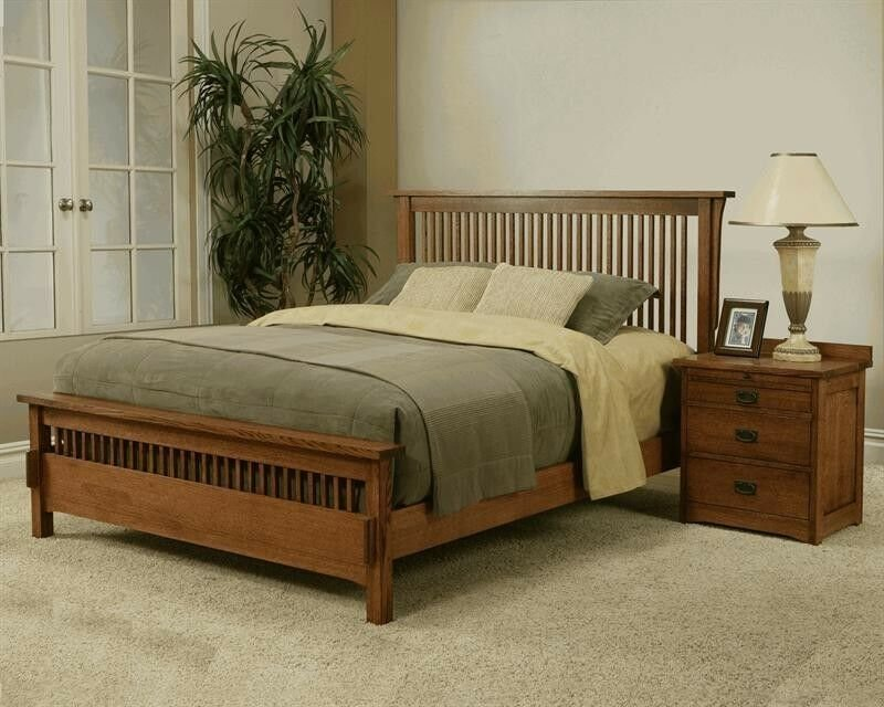 Best Made In The Usa Queen Mission Rift Quarter Sawn Oak Bed With Pictures