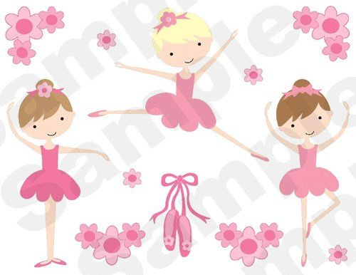 Best Ballerina Wall Border Decals Baby Girl Nursery Kids Room With Pictures