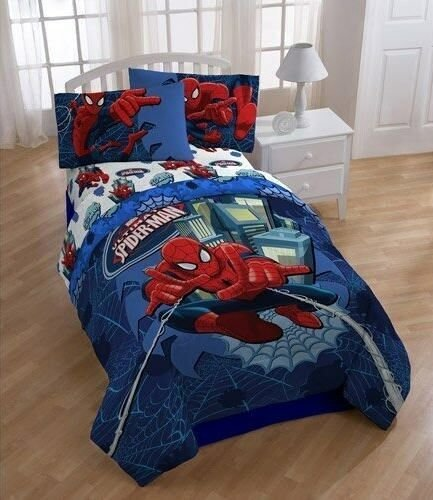 Best Spiderman Reversible Boys Full Double Comforter Sheets 5 With Pictures
