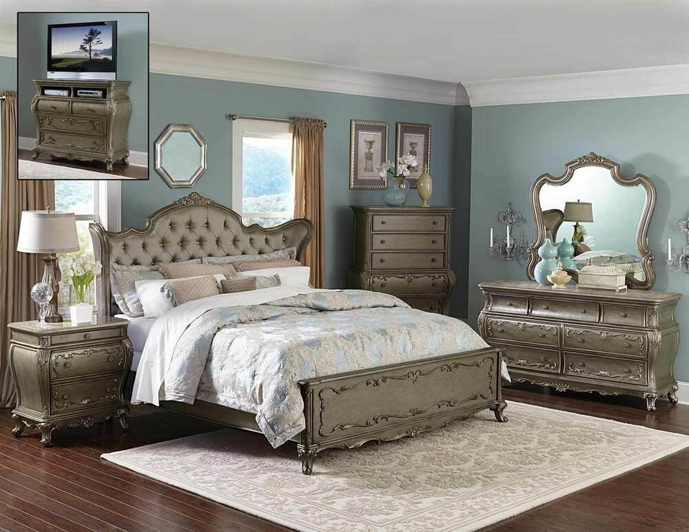 Best Florentina French Traditional Bedroom Set 5 Piece On Sale With Pictures