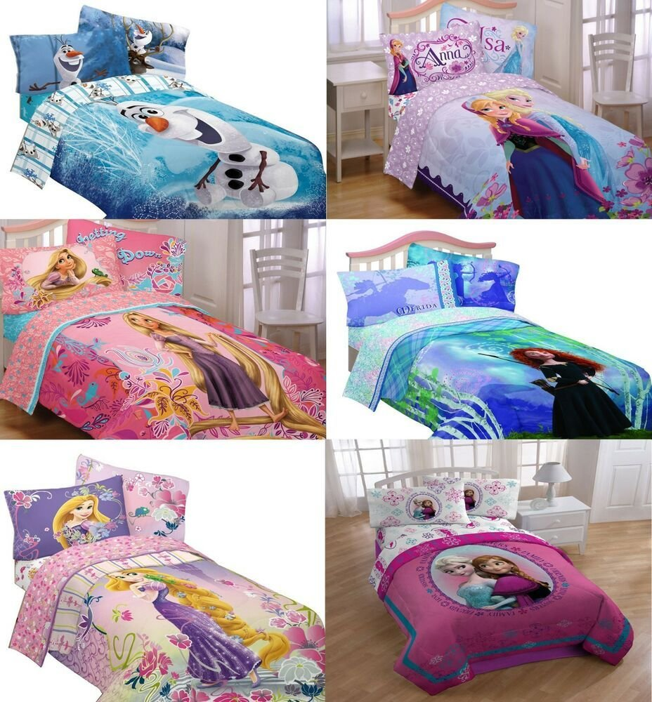 Best Girls Disney Princess Bedding Set Kids Bedroom Bed In A Bag Comforter Sheets Ebay With Pictures