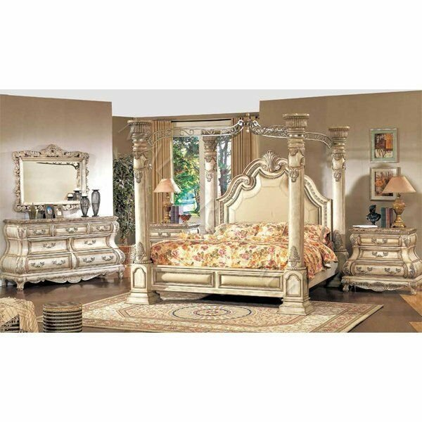 Best 5Pc Royal French Bombay Queen Bedroom Set Antique Cream Ebay With Pictures