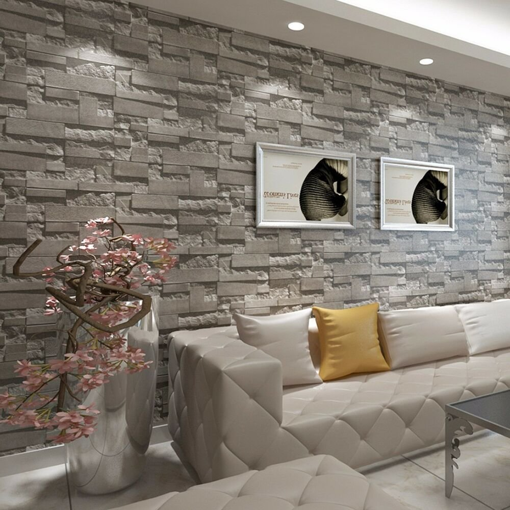 Best Modern 3D Brick Wallpaper Bedroom Living Room Wall With Pictures
