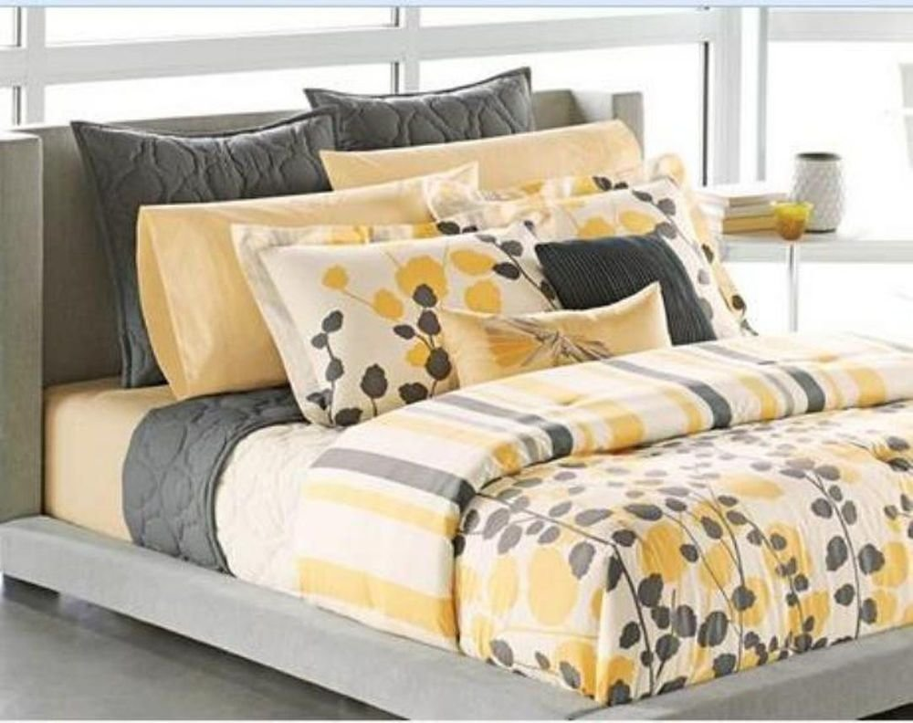 Best Twin Apt 9 Ivy Yellow Gray Cream Floral Sham With Pictures