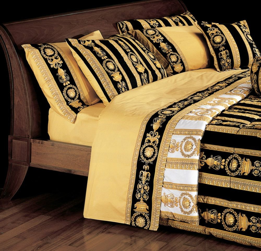 Best Versace Medusa Queen Size Black Bed Duvet Cover Sheet With Pictures