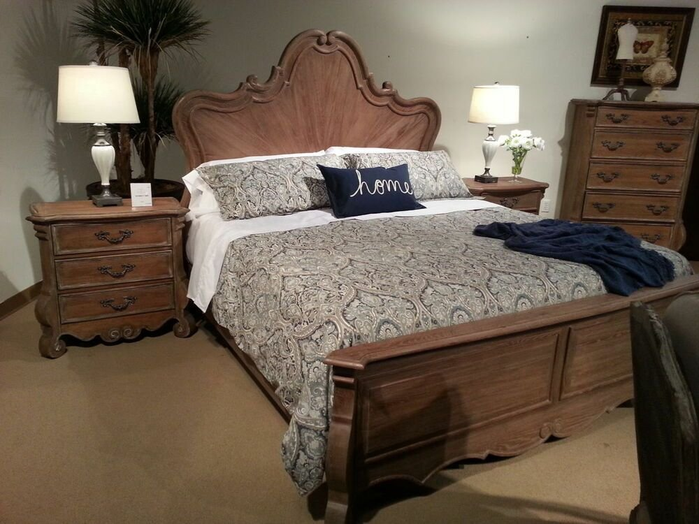 Best Awesome Antique Look Oak Queen Bed Bedroom Furniture Ebay With Pictures