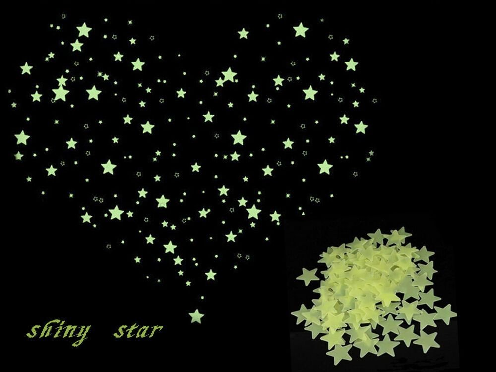 Best 100Pcs Shining Ceiling Wall Glow In The Dark Stars With Pictures