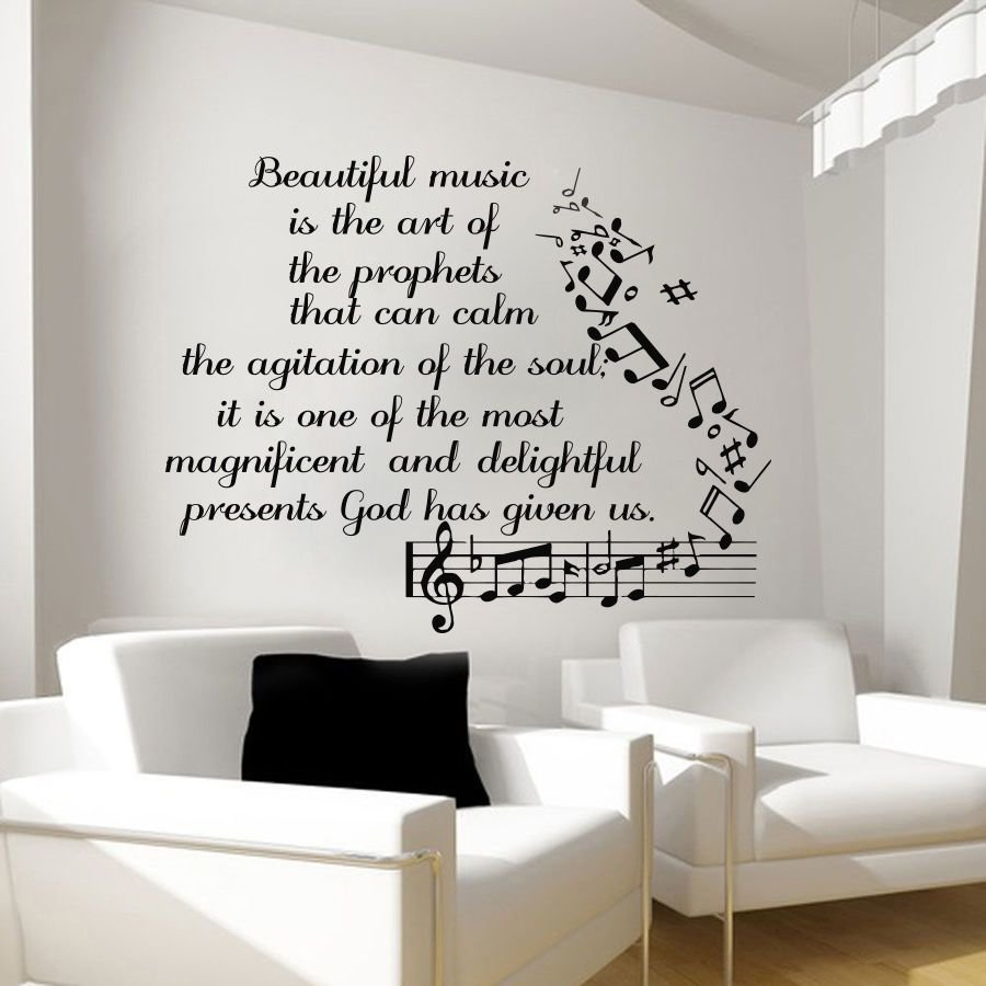 Best Music Wall Decals Vinyl Notes Decal Butterfly Sticker With Pictures